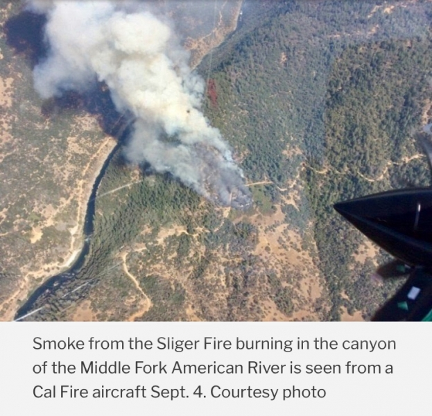 Sliger Fire aerial view.