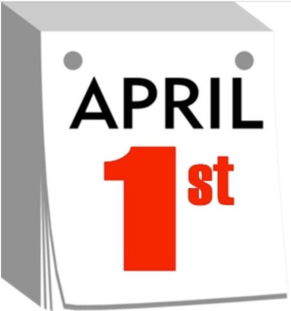 Calendar graphic, April 1.