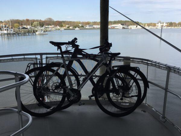 Bikes on upper helm.