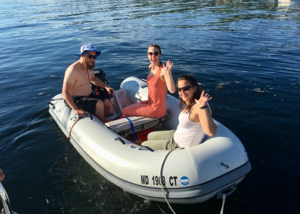 Conor, Danielle and Carrie explore Lake Champlain.
